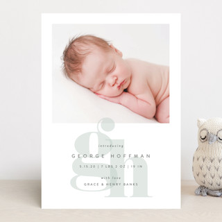 Layered Letters Birth Announcements