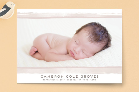 Modern Stripe Birth Announcements