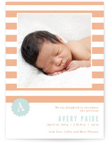 Striped Delight Birth Announcements