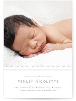 XOXO Bunting Banners Birth Announcements