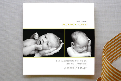 Simple Welcome Birth Announcements