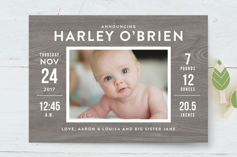 Barnwood Birth Announcements