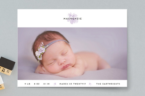 Orchid Birth Announcements