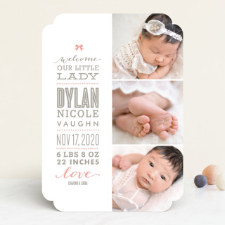 Little Girl Birth Announcements