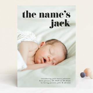 the name Birth Announcements