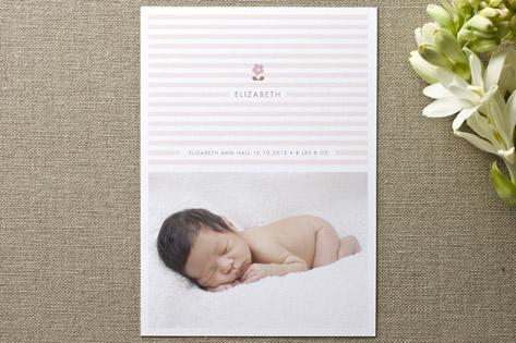 daisy and stripe Birth Announcements
