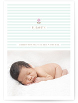 daisy and stripe Birth Announcements