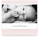 Preppy Stripe Birth Announcements