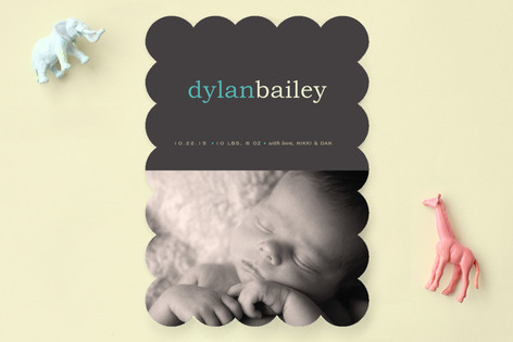 Pop of Color Birth Announcements