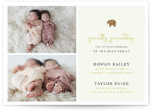 petit elefant Birth Announcements