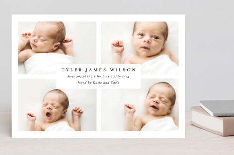 Four Glimpses of Heaven Birth Announcements