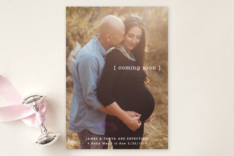 Baby Bracket Birth Announcements