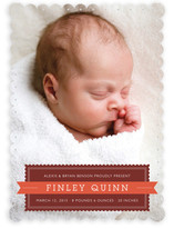 Stamp and Banner Birth Announcements