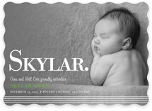 simply stripes Birth Announcements