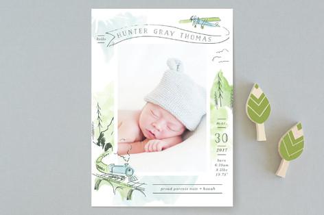 Baby Train Birth Announcements