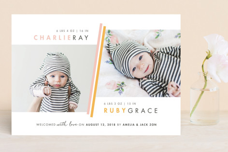 Two Fold Birth Announcements