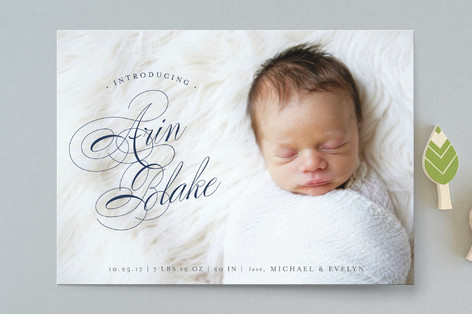 formal introduction Birth Announcements