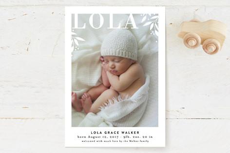 Paper cutout garden Birth Announcements