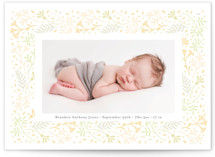 Floral Love Birth Announcements