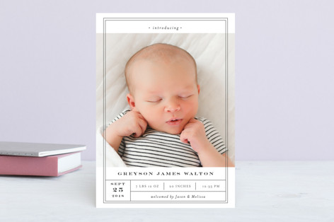 Birth Label Birth Announcements