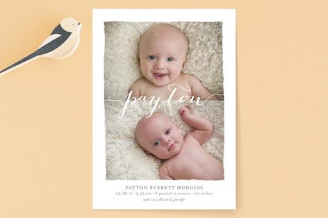 Clean Strokes Birth Announcements