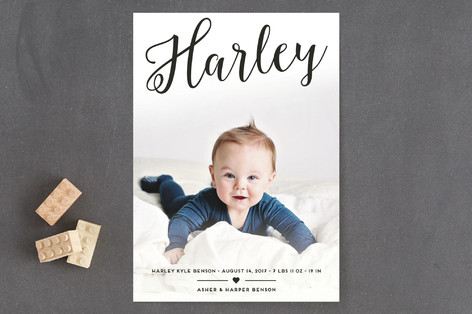 Sweetest Angle Birth Announcements