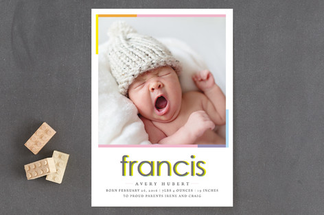 out of register hello Birth Announcements