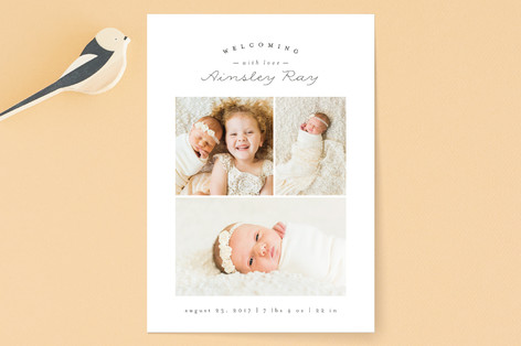 Sweet Welcoming Birth Announcements