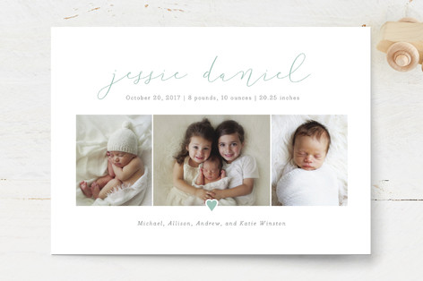 Our Love Birth Announcements