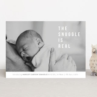 The Snuggle is Real Birth Announcements