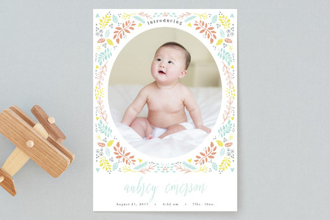 Blooming Love Birth Announcements