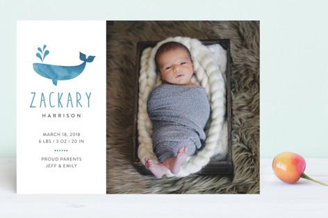 Whale Hello Birth Announcements