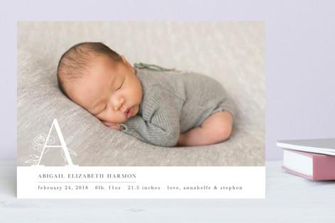Monogram Detail Birth Announcements
