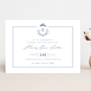 Classic Baby Monogram Birth Announcements