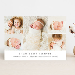Classically Modern Birth Announcements