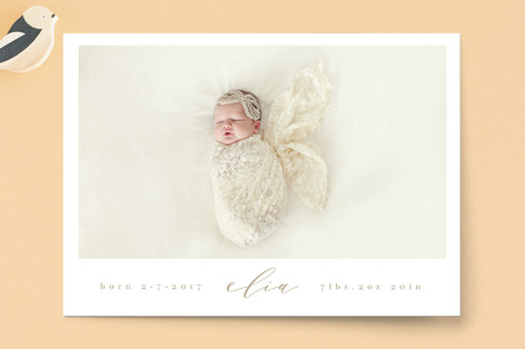 Baby Script Birth Announcements
