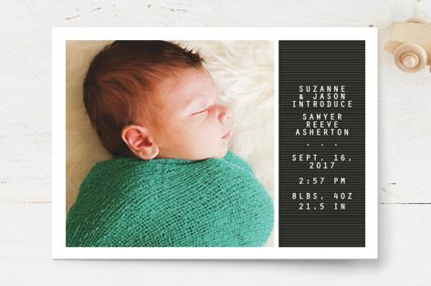 Letter board Birth Announcements
