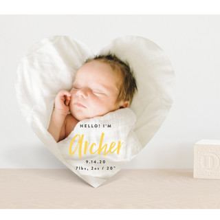 Simple Hello Birth Announcements