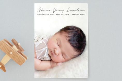 Script Name Birth Announcements