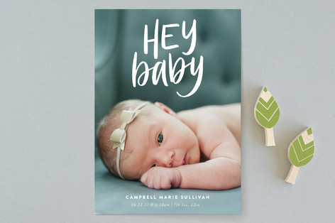 Hey! Birth Announcements