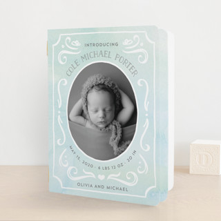 Ornate Frame Birth Announcement Booklette™ Cards