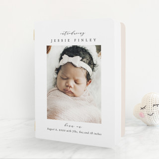 Elegant Collage Birth Announcement Booklette™ Cards