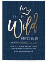 Wild Rumpus Foil-Pressed Children's Birthday Party Invitations