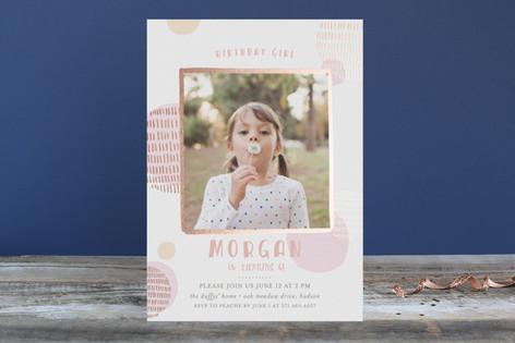 Birthday Wish Foil-Pressed Children's Birthday Party Invitations
