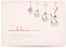 Cupcake Topping Factory Children's Birthday Party Invitations