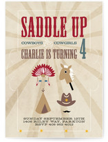 Saddle Up Children&#039;s Birthday Party Invitations