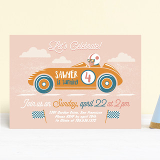 Speed time Children's Birthday Party Invitations