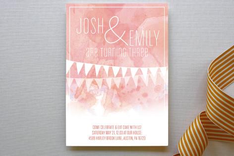 twin birthday children s birthday party invitation minted
