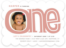 Big One Children&#039;s Birthday Party Invitations