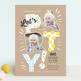 Let's Party Pictures Children's Birthday Party Invitations